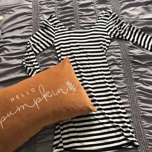 Poetry black and white stripe dress 👗